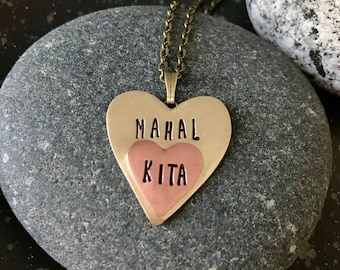 Knitting Meaning In Tagalog : Mahal kita heart pendant necklace. philippines filipino