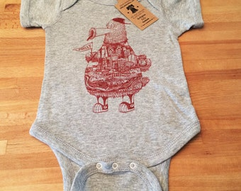 FREE SHIPPING -- Philadelphia Fanatic -- Paul Carpenter Art -- Baby Onesie