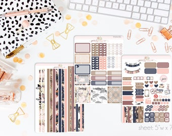 Sweater Weather HORIZONTAL Weekly Kit // 130+ Matte Planner Stickers // Perfect for your Erin Condren Life Planner // WKH0780