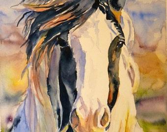 Windy Watercolor Art Print by Maure Bausch