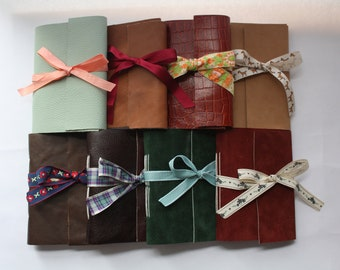 A6 Handmade Leather Bound Notebook