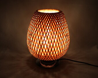 Free Shipping-Handwoven Bamboo Table Lamps-Desk Lamps-Bamboo Lamps-Table Decoration-Night Lamps- 110-240V