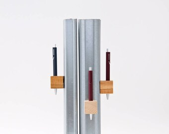 MAGIC PEN CUBES Magnetic Pen Holder Wooden Cube Vladimir&Kazimir