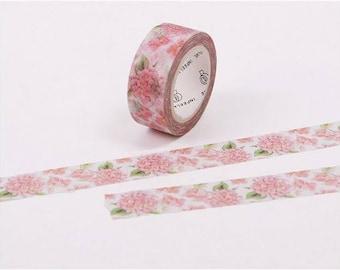 Masking tape Flower Pink 7 m