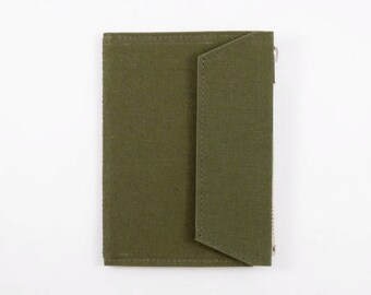 Olive - Fourruof Fabric Traveler's Notebook Insert (Passport)