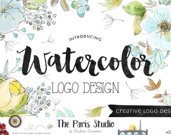 Custom Logo Design eCommerce Website Logo Blog Logo Boutique Logo Branding Business Logo Watercolor Vintage Retro Logo Wedding Monogram Logo