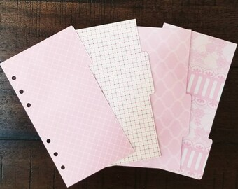 Blush and Bashful PERSONAL 4 tab divider set