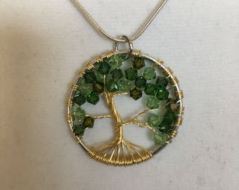 Early Spring Gold Tree of Life pendant