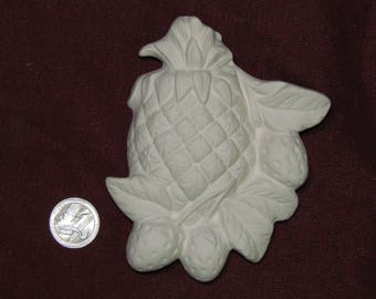 Ceramic Bisque Ceramic Bisque Pineapple and Strawberry Plaque Wall Hanging  U-Paint ~ Ready to Paint DIY