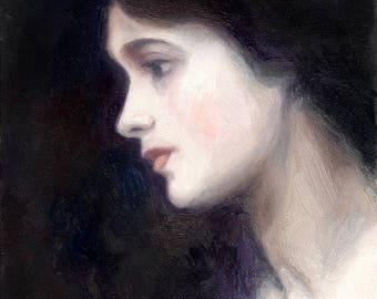 Painting of a Beautiful Young Woman: Master Copy of James Jebusa Shannon