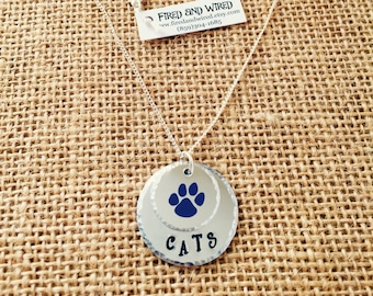 University of KY Necklace, Hand Stamped Kentucky Necklace, Handstamped Jewelry, KY Jewelry, KY Necklace, University of Kentucky Jewelry