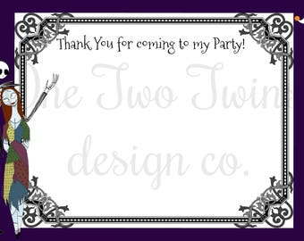 Nightmare Before Christmas Thank you Card