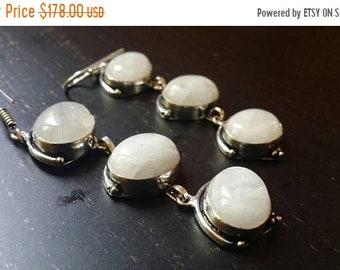 SUMMER FLASH SALE 75% Off Moonstone  Earrings .925 Sterling Silver Gemstone