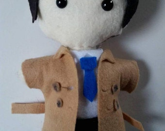Supernatural Castiel felt doll plush