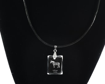 Haflinger,  Horse Crystal Necklace, Pendant, High Quality, Exceptional Gift, Collection!
