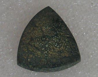 Spider Web Copper Ore Stone Triangular Cabochon 21mm