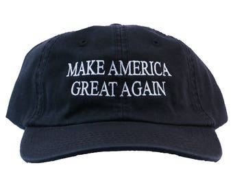 Make America Great Again Embroidered Dad Hat (Black)