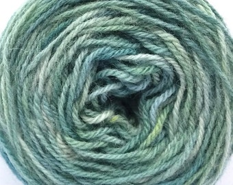 Hand paint pure wool knitting yarn #1842, DK 3-ply worsted 50g/125m cake