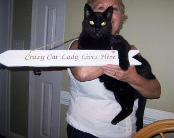 Crazy Cat Lady Sign