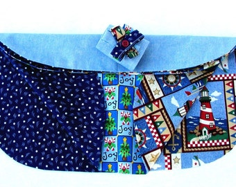 4 in 1 Placemat with Napkin Ring in Blue
