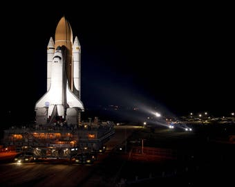 Poster, Many Sizes Available; Space Shuttle Atlantis Embarks On Its Final Journey Sts-135