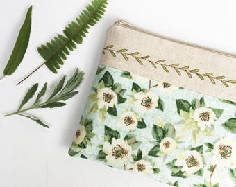 Birthday Gift, Cosmetic Bag, Gifts for Mom, Makeup Bag for Sister, Unique Gifts, Make Up Bag for Her, for Women, for Best Friend, Floral