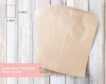 "5""x7"" brown kraft favour bags 25pcs"