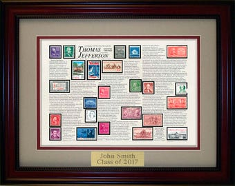 Thomas Jefferson  4854 - Personalized Framed Collectible (A Great Gift Idea)