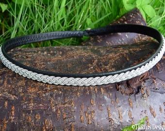 Black Leather Viking Necklace Choker ASGARD Scandinavian Sami Jewelry Custom Handmade to your wishes