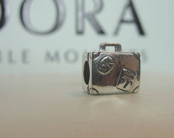 PANDORA Suitcase Charm # 790362. Excellent Pre Owned Condition