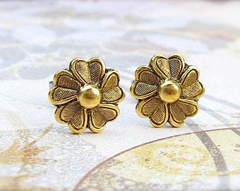 Potentilla Bloom post earrings