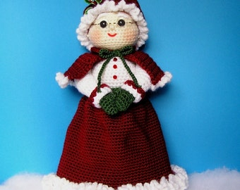 PDF Crochet Pattern MRS SANTA (English only)