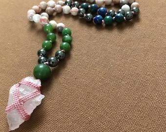 Passionate Tribe Meditation Mala * Knotted Mala * 108 beads