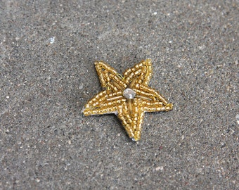 Golden Tiny Star Beaded Hair Clip