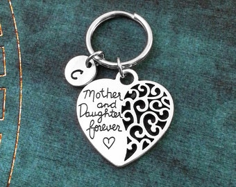 Mother and Daughter Forever Keychain Mother Keychain Personalized Keychain Mother's Day Keychain Mom Keychain Daughter Keychain Mom Keyring