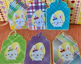 Easter Gift Tags • Easter Basket Tags • Easter Favor Tags • Bunny Tags •