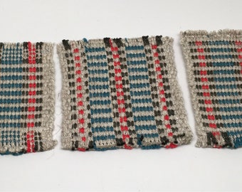 Handwoven Rep Weave Coasters Sets of 4, 6, or 10
