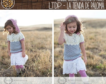 Crochet Sweater Pattern Baby to Child - Shelly Sweater Pattern - Sweater Pattern