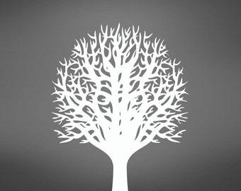 Vinyl Wall Decal Sticker Bare Tree 757