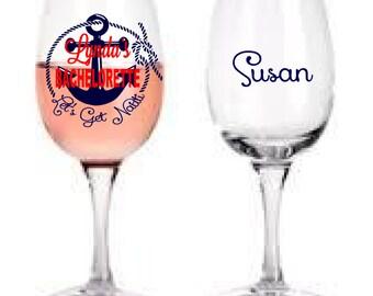 Get Nauti Bachelorette Wine Glass
