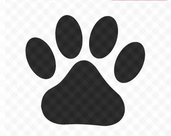 Paw Print SVG Cut Files, Svg File and PNG Image, Pawprints, Dog Paw, Cat Paw, Cut File for Silhouette, Cricut Cutting File
