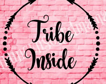 SPRING CLEANING SALE! Tribe Inside, Round Arrow Baby on board, kids on board decal