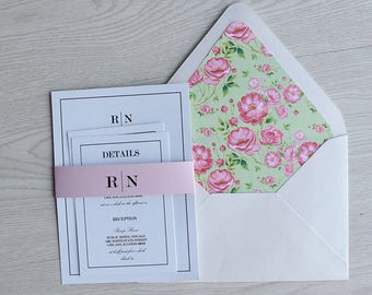 Letterpress Wedding Invitations,  letterpress wedding invitation suite