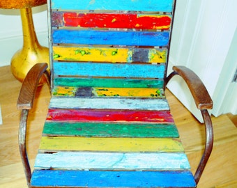 Upcycled Teak boat wood Armchair