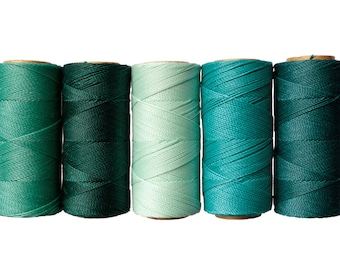 50 meters Waxed Polyester Cord, Linhasita Thread 1mm - Macrame Cord, Bracelet Thread, Waxed Polyester, Jewelry Cord
