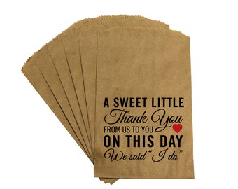 Wedding Favor Candy Bags - Antique Victorian Rustic Cottage Chic Wedding  - Sweet Thank You - Wedding Candy Buffet Treat Bags