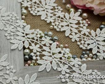 Lace Trim/Guipure Lace Trim/Antique Lace Trim/Wedding Veil Lace Trim/Bridal Lace Fabric/Guipure Lace Fabric/Vintage Lace by the yard/GL-45