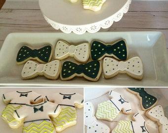 Onesie and Bowtie Cookies (One Dozen)