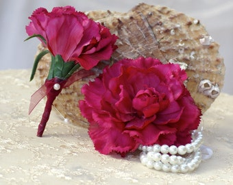 Budget Classic Carnation Boutonniere or Corsage