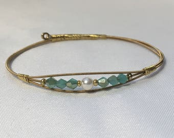 Upcycled Guitar String Bangle - Gift for Her